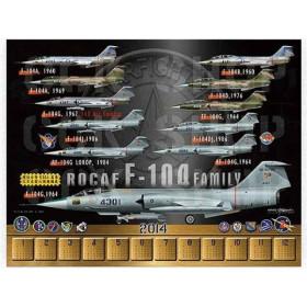 2014年F-104星式戰機年曆