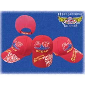 空軍F-16傲視雄鷹紀念帽 (紅色)